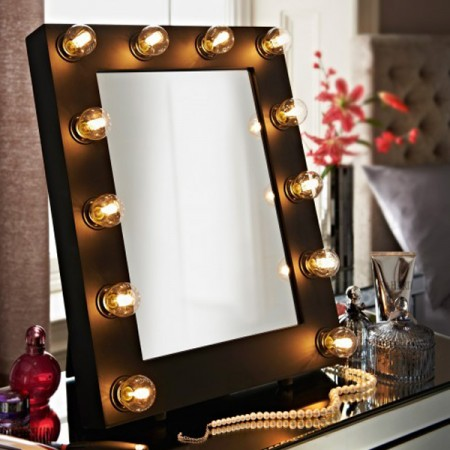 Adore Broadway/Hollywood Mirror  Satin Black