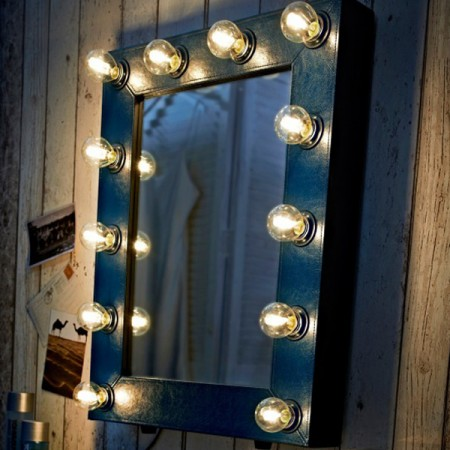 Adore Broadway/Hollywood Mirror Indigo Blue Leather
