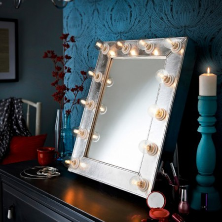 Adore Broadway/Hollywood Mirror Silver Leather